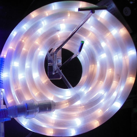 10m 36V LED Frosted Connect Rope Warm White/White