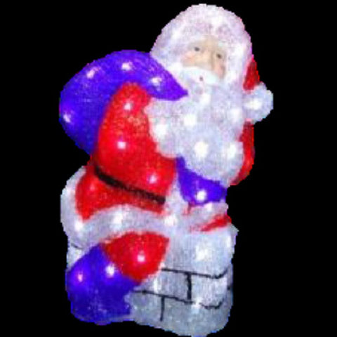 Acrylic Santa Chimney LED 36cm