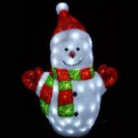 100 LED Frosted Acrylic Snowman