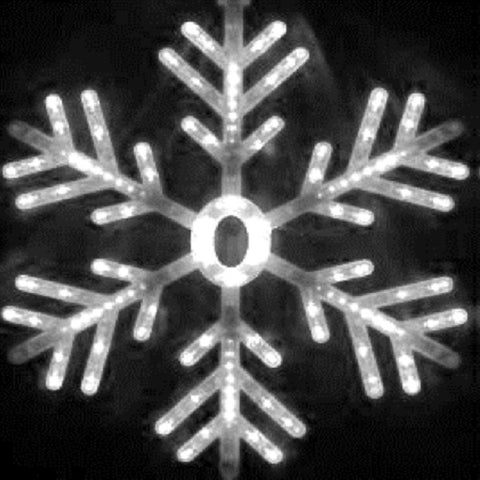 31V LED Snowflake White L40xW40