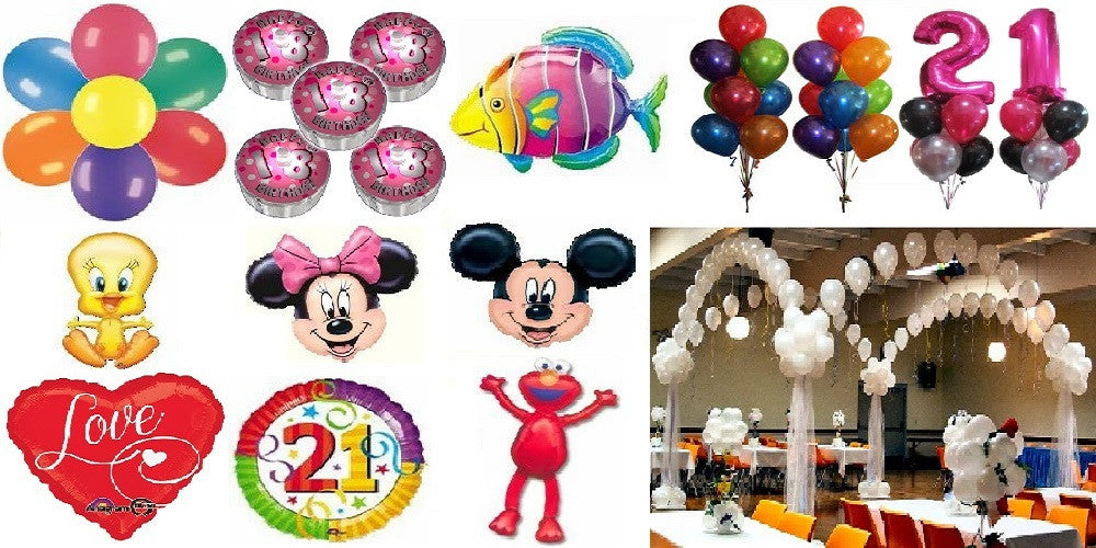 Full Range of Balloons and Accessories