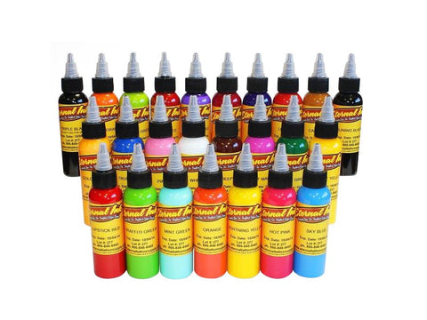 Individual Eternal Tattoo Ink Bottles – Top 25 Colors – 1oz Bottles
