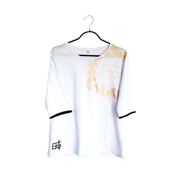 Yo-ji- Artistic Design  Lux white Long Sleeve Shirt for Women