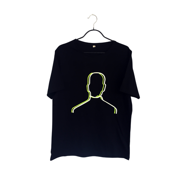 Desdoblamiento- Artistic Design black T Shirt for Men - pop art neon sculpture