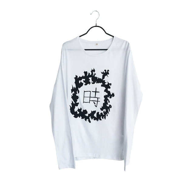 Toki- Design white Long Sleeve T Shirt for Men
