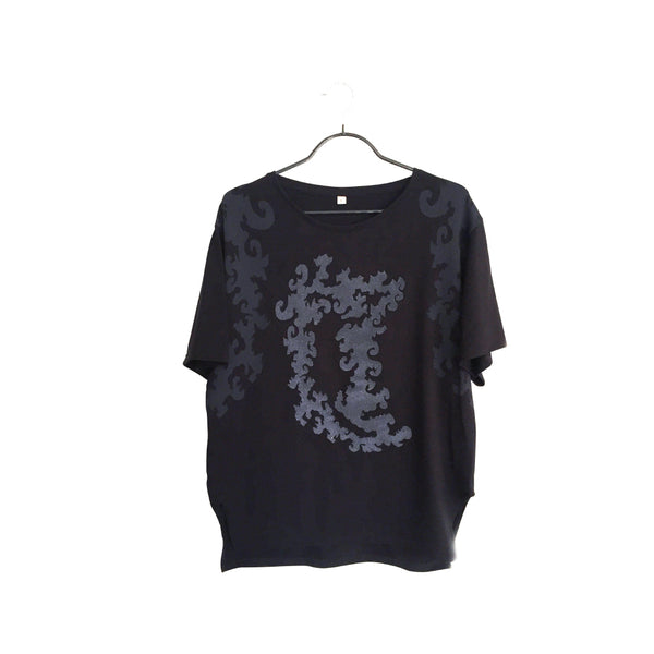 Kiri- Artistic Design black T Shirt for Men - Japanese culture