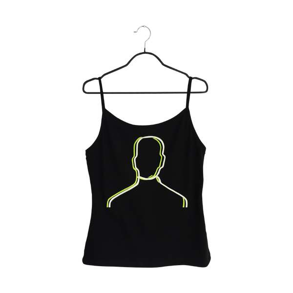 Desdoblamiento- Artistic Design black Tank Top for Women - pop art neon sculpture