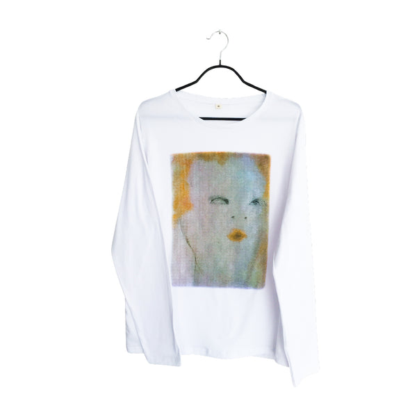 Red lips- Artistic Design lux white Long Sleeve T Shirt for Men