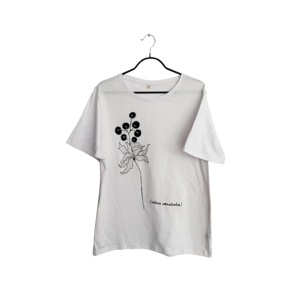 Valorus Inexistentus- Artistic Design white flower T Shirt for Women