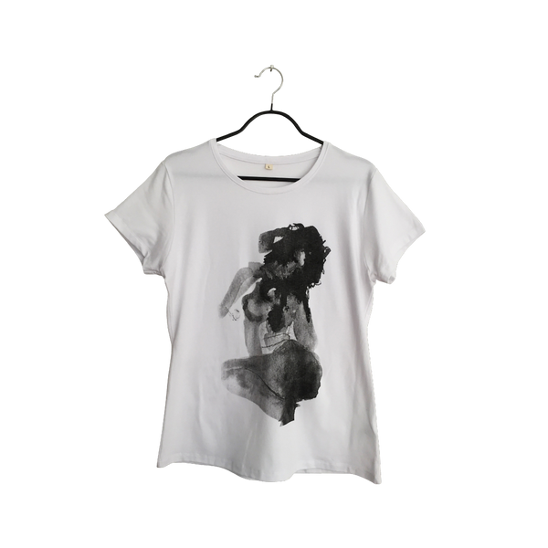 Mujer - Artistic Design white lux T Shirt for Women