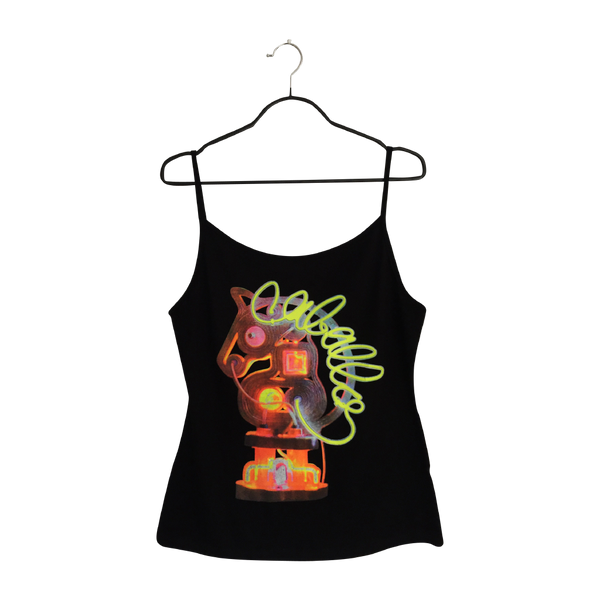 Iluminado- Artistic Design black Tank Top for Women - pop art neon sculpture