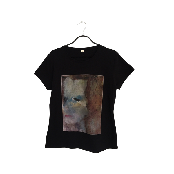 Nostalgia - Artistic Design black T Shirt for Women