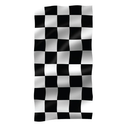 Checkered Vertical Flag