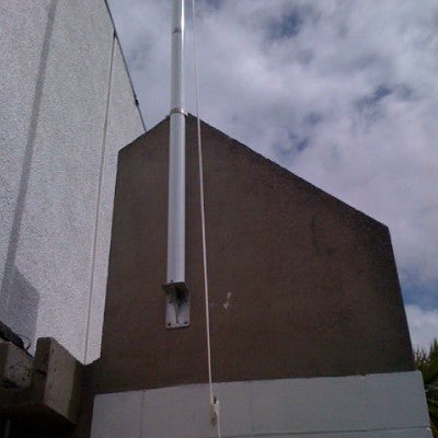 Deluxe Exterior Flag Pole Parapet Mounted