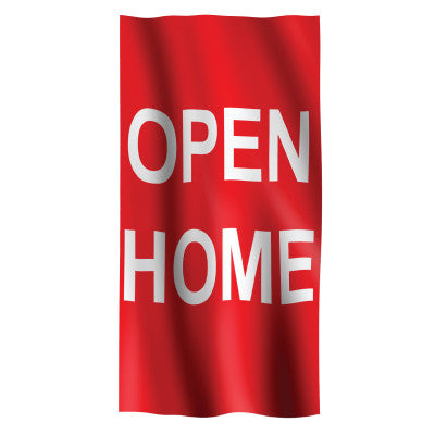 Open Home Vertical Flag