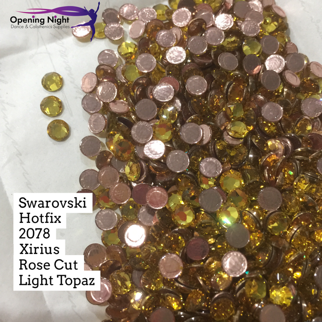 Swarovski® Hotfix Crystals, Light Topaz