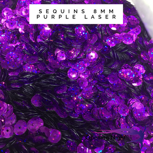 Sequins Cupped - Purple Laser Hologram