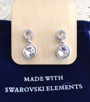 Swarovski Element - Drop Stud