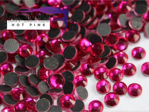 Hot Pink - Hotfix Diamante DMC Crystals