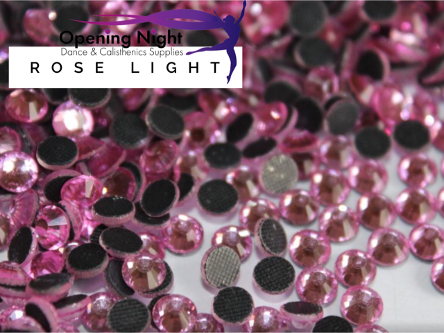 Rose Light - Hotfix Diamante Crystal