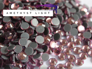 Amethyst Light - Hotfix Diamante DMC Crystals