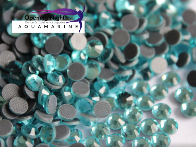 Aquamarine - Hotfix Diamante DMC Crystals