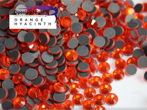 Orange Hyacinth - Hotfix Diamante DMC Crystals