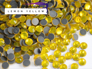 Lemon Yellow - Hotfix Diamante DMC Crystals