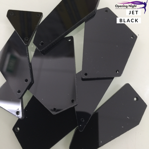 Acrylic Mirror Pieces - Jet Black