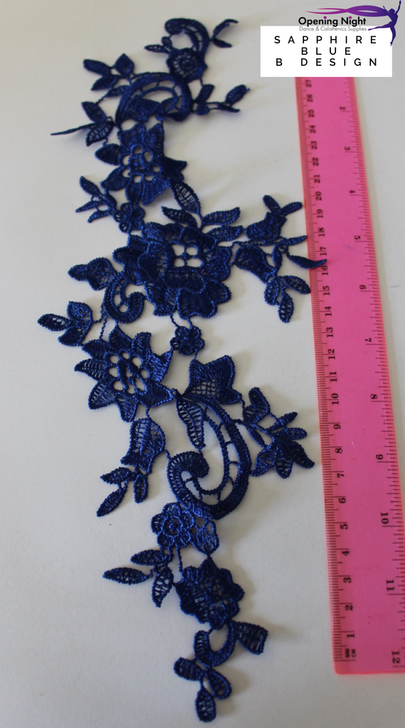 Embroidered Applique Trim, Demi 34cm