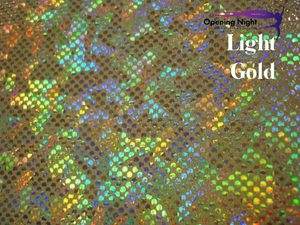 Light Gold - Shattered Glass Hologram Spandex