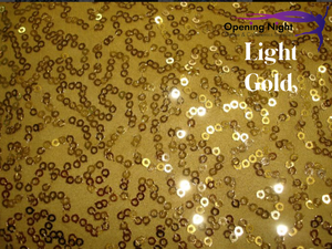 Light Gold - Bedazzled Sequin Spandex