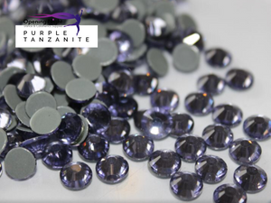 Purple Tanzanite - Hotfix Diamante AAA Crystals