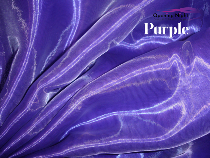 Purple - Glass Crystal Organza