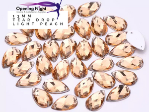 13mm, Tear Drop - Light Peach