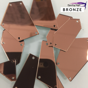 Acrylic Mirror Pieces - Bronze