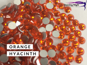 Orange Hyacinth - AAA Non Hotfix Diamante Crystals