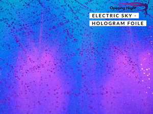 Electric Sky - Hologram Foile Spandex