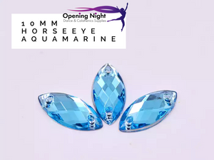 10mm, Horseeye - Aquamarine