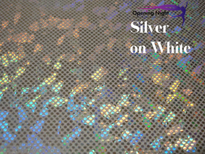 Silver on White - Shattered Glass Hologram Spandex