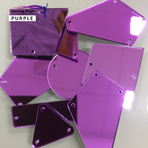 Acrylic Mirror Pieces - Purple