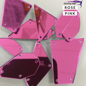 Acrylic Mirror Pieces - Rose Pink