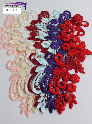 Embroidered Applique Trim, Plie 25cm