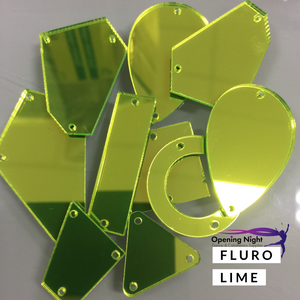 Acrylic Mirror Pieces - Fluro Lime