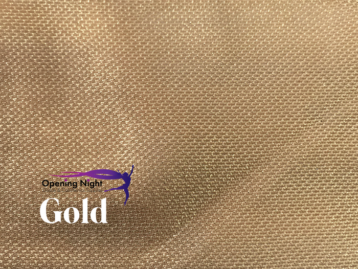 Gold - Stretch Foile Mesh