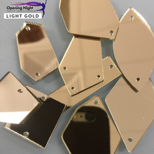 Acrylic Mirror Pieces - Light Gold
