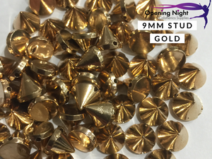 9mm Stud - Gold (Sew on)