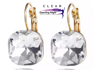 Earrings - Austrian Crystal Square Stud