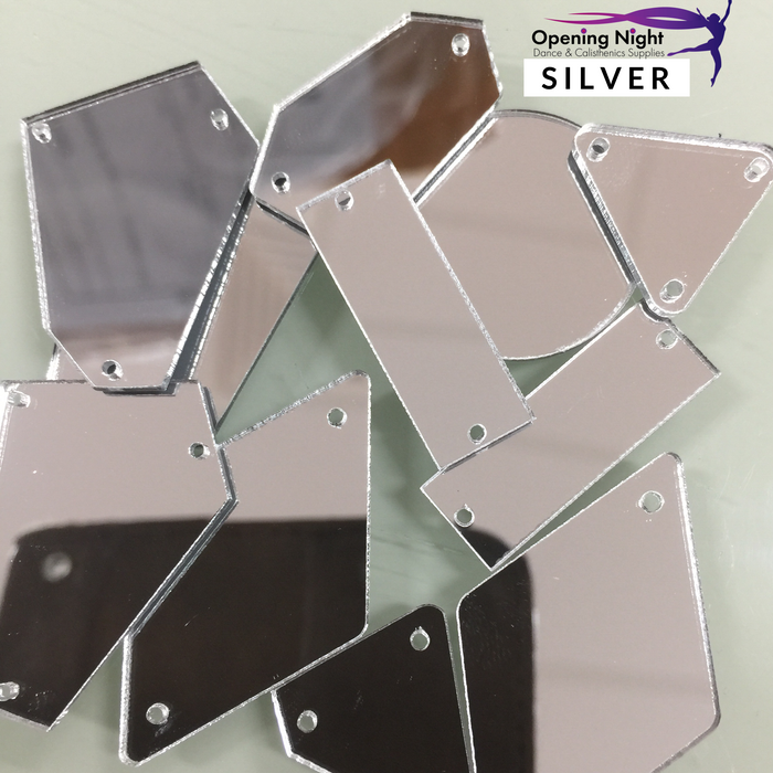 Acrylic Mirror Pieces - Silver