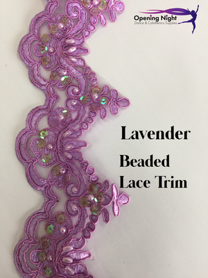 Lavender - Beaded Lace Trim